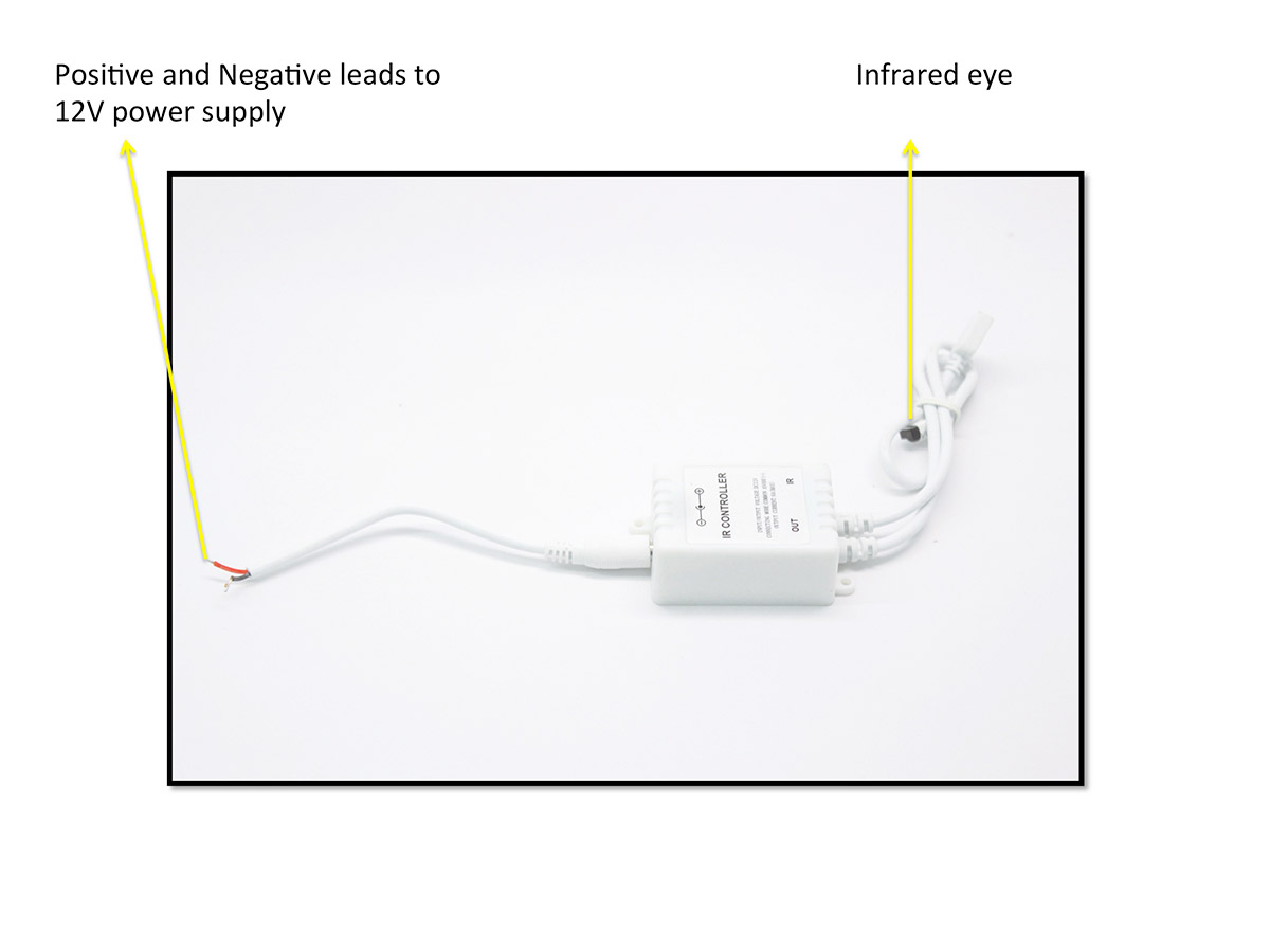 infrared remote module controller for led halo rings