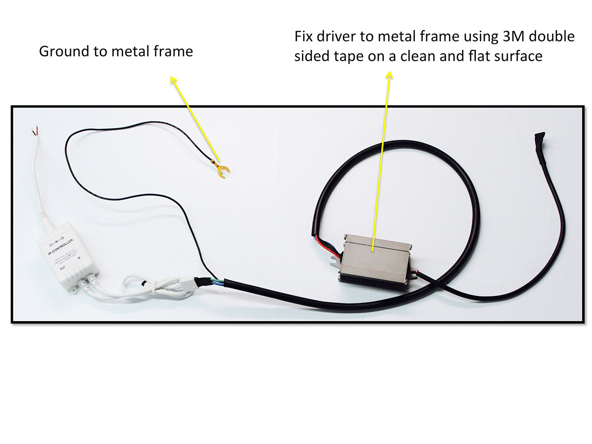 how to install led halos