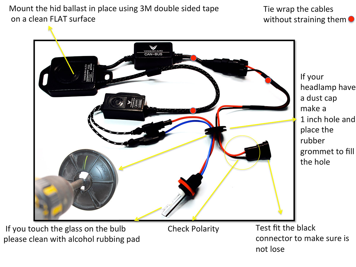 how to install hid kit diagram