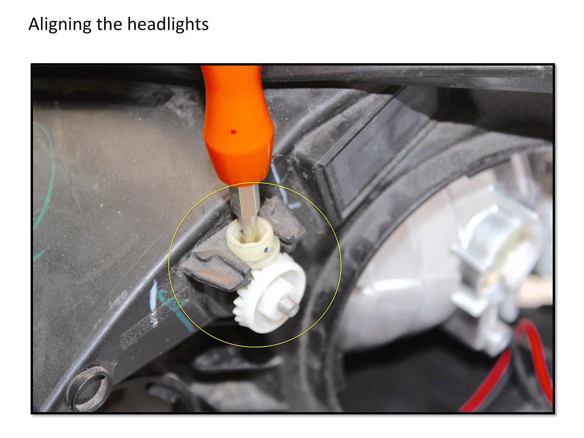 how to align a bixenon bi-xenon hid projector hids alignment