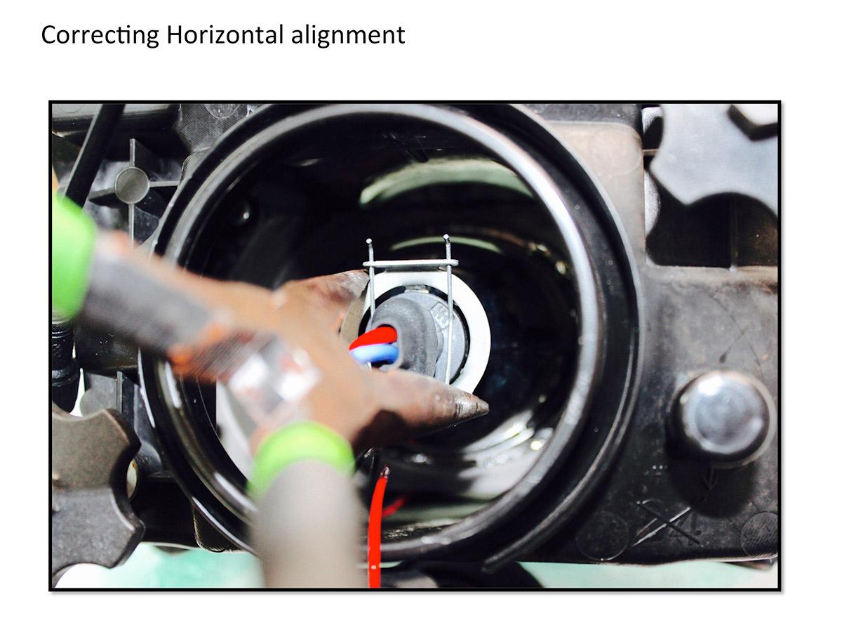 How to align hid projectors