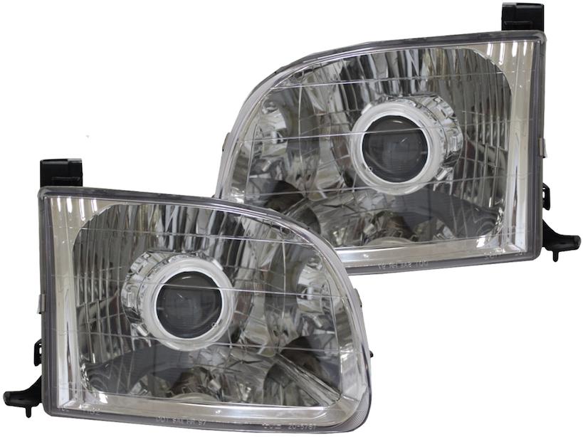 Vintage Car Truck Parts Toyota Tundra 00 04 Chs Bright White Led Headlight Halo Ring Kit Automotive