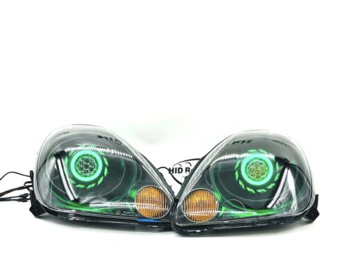 00-03 Toyota MR2 Spyder LED Color-shift Halo Projector Retrofit Headlights