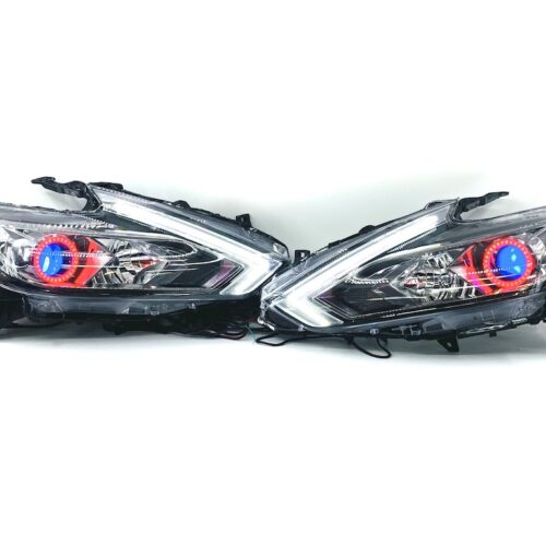 16-19 Nissan Altima RGBW Led Halo Projector Headlights Switchback Eyebrows