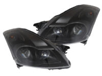2007-2009 Nissan Altima Sedan Black Projector Headlights