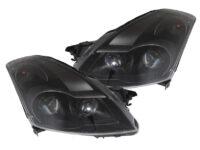 2007-2009 Nissan Altima Sedan Black Projector Headlights