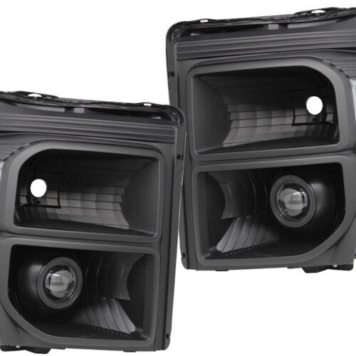 11-16 Ford F250 F350 Custom Black LED Projector Headlight Retrofit