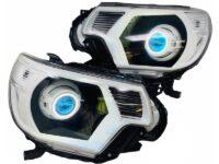 12-15 Toyota Tacoma TRD Led Demon Eyes Halo Projector Retrofit Headlights