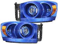 06-08 Dodge Ram 1500 Blue Pearl Custom Projector Headlights
