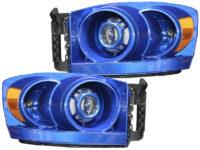 06-08 Dodge Ram 1500 Blue Pearl Custom Projector Headlights