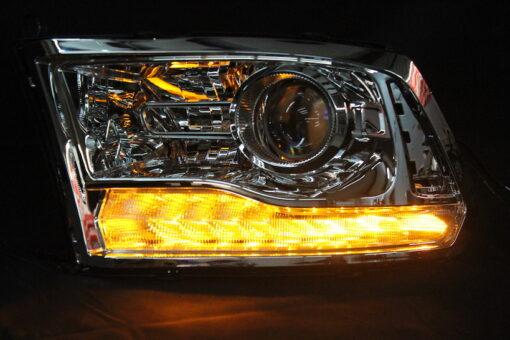 2013-2017 RAM 1500 Chrome LED Projector Headlights
