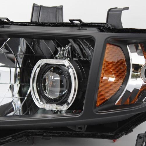 2006-2014 Honda Ridgeline Black Halo Projector Headlights