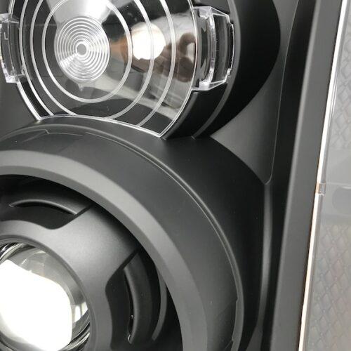 2007-2014 GMC Yukon XL 1500 Black Headlight Projectors