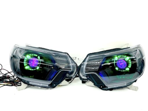 12-15 Toyota Tacoma RGBW Color-Shift LED Halo Projector Headlights