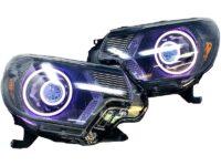 12-15 Toyota Tacoma RGBW Color-Shift LED Halo Projector Retrofit Headlights
