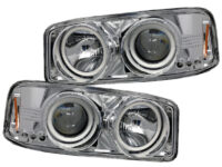 99-06 GMC Sierra Quad RGBW LED Halo Headlights