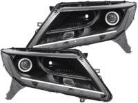2013-2016 Nissan Pathfinder Black Halo Projector LED Headlights