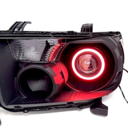 2007-2013 Toyota Tundra 2008-2017 Sequoia Black RGB Halo Projector Headlights