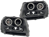 2002-2009 Chevrolet Trailblazer LED Halo Projector Headlights2