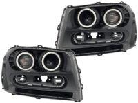 2002-2009 Chevrolet Trailblazer LED Halo Projector Headlights2
