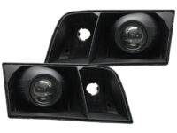 98-11 Ford Crown Victoria Black Projector Headlights