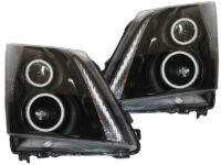 2008-2014 Cadillac CTS Black Retrofit Projector Headlights