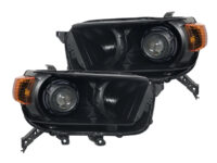 2010-2013 Toyota 4Runner Headlights Custom Black LED Color Halos