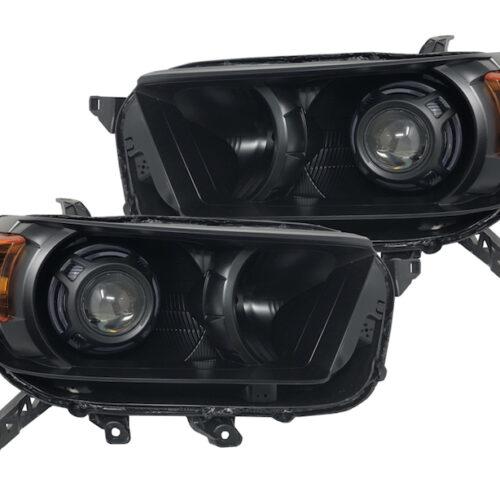 2010-2013 Toyota 4Runner Headlights Custom Black LED Color Halos