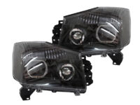 04-15 Nissan Armada LED Halo Black Projector Headlights