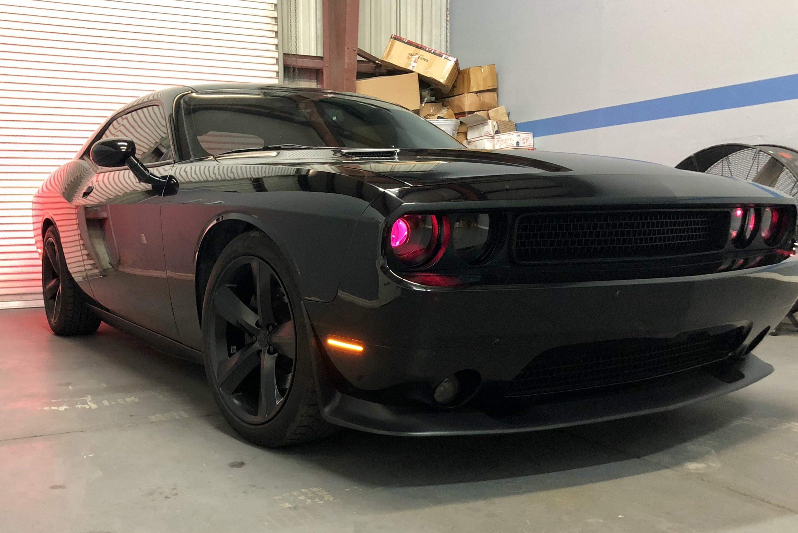 2008 2014 Dodge Challenger Led Projector Retrofit Black Headlights