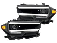 2017 Toyota Tacoma Full LED Custom Retrofit Black Headlights