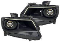 2015-2018 Chevrolet Colorado Led Halo Projector Black Headlights