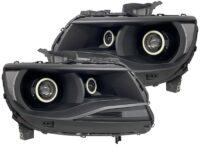 15-19 Chevy Colorado Quad Projector Strip Headlights LED Halo Lights