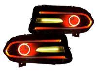 dodge charger led halo headlights