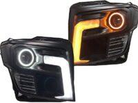 headlights custom black led halo