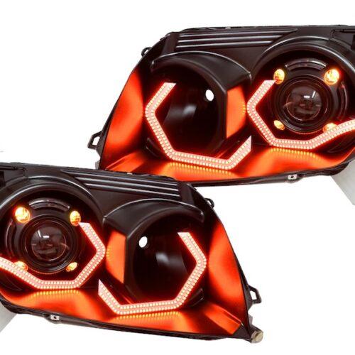 4runner headlights led rgb quad