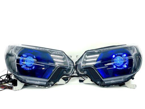 12-15 Toyota Tacoma Custom Retrofit Projector Headlights RGBW Led Lights