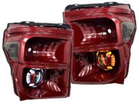 ford f250 headlights custom painted