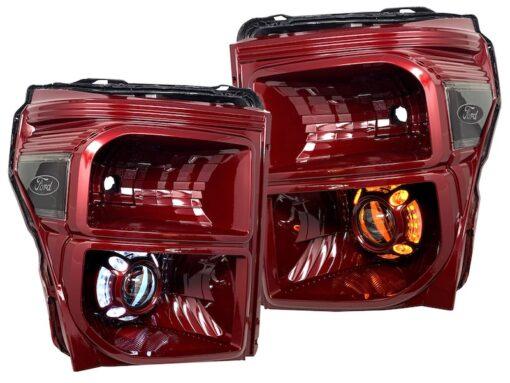 ford f250 headlights custom painted