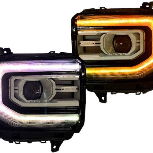 sierra custom painted headlights multi