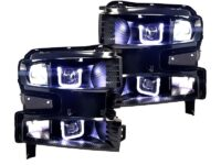 2019 Chevrolet Silverado Custom Black Retrofit Led Headlights