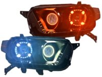 2010-13 Toyota 4Runner LED Headlights Quad Halo Projector Multi-Lens / Color RGB