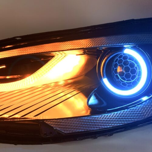 2012-2016 Tesla Model S LED Multicolor Angry Halo Projector Headlights