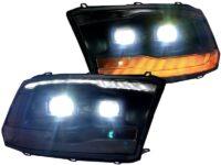 2008-2019 Ram Black Bi-LED Custom Retrofit Headlights