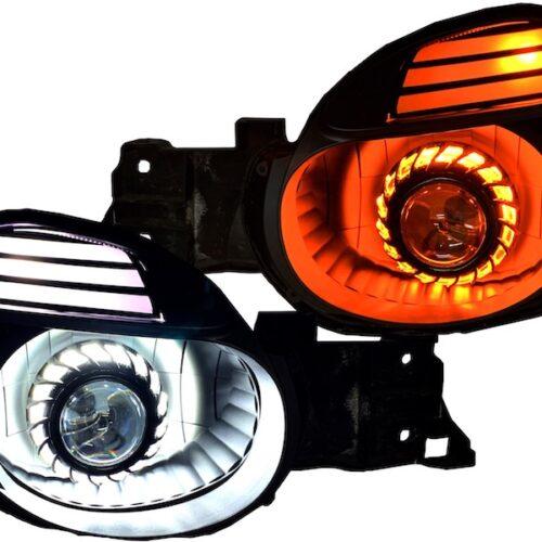02-03 Subaru WRX Switchback LED Projector Black Retrofit Headlights