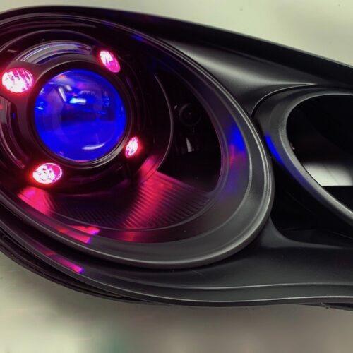 2010-2016 Porsche Panamera RGB Led Halo Black Projector Headlights