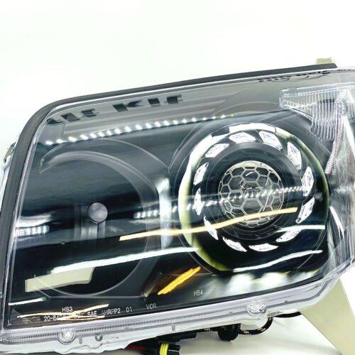 03-05 Toyota 4Runner Black Projector Retrofit LED Switchback Headlights