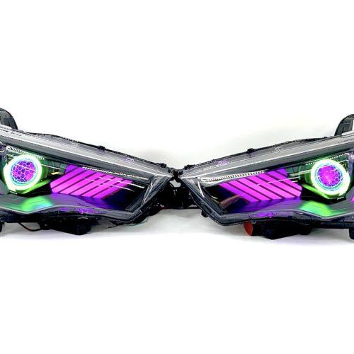 2014-21 Toyota 4runner Black Projector Halo Headlights Gill Lights