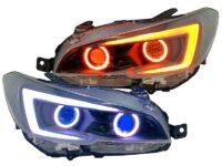 2018+ Subaru STI Quad Bi-LED Projector Headlights RGBW LED Lights