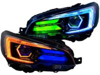 2018-2021 Subaru Sti Angry LED RGBW Retrofit Black Headlights